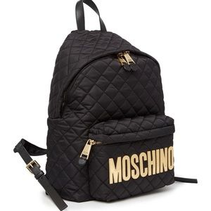 Moschino quilted logo backpack new authentic